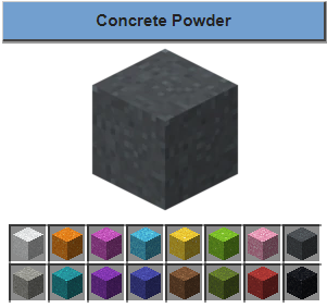 making of concrete powder