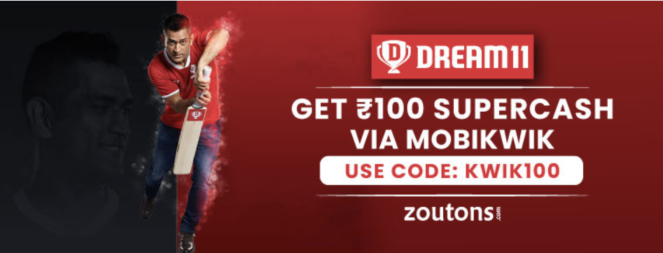 Dream11 coupon for today