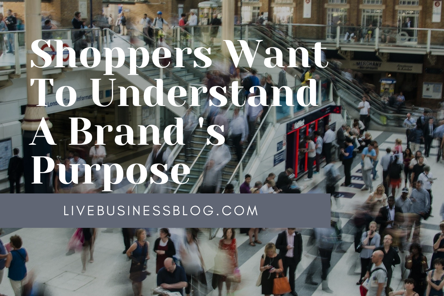 Shoppers want to understand a Brand Purpose