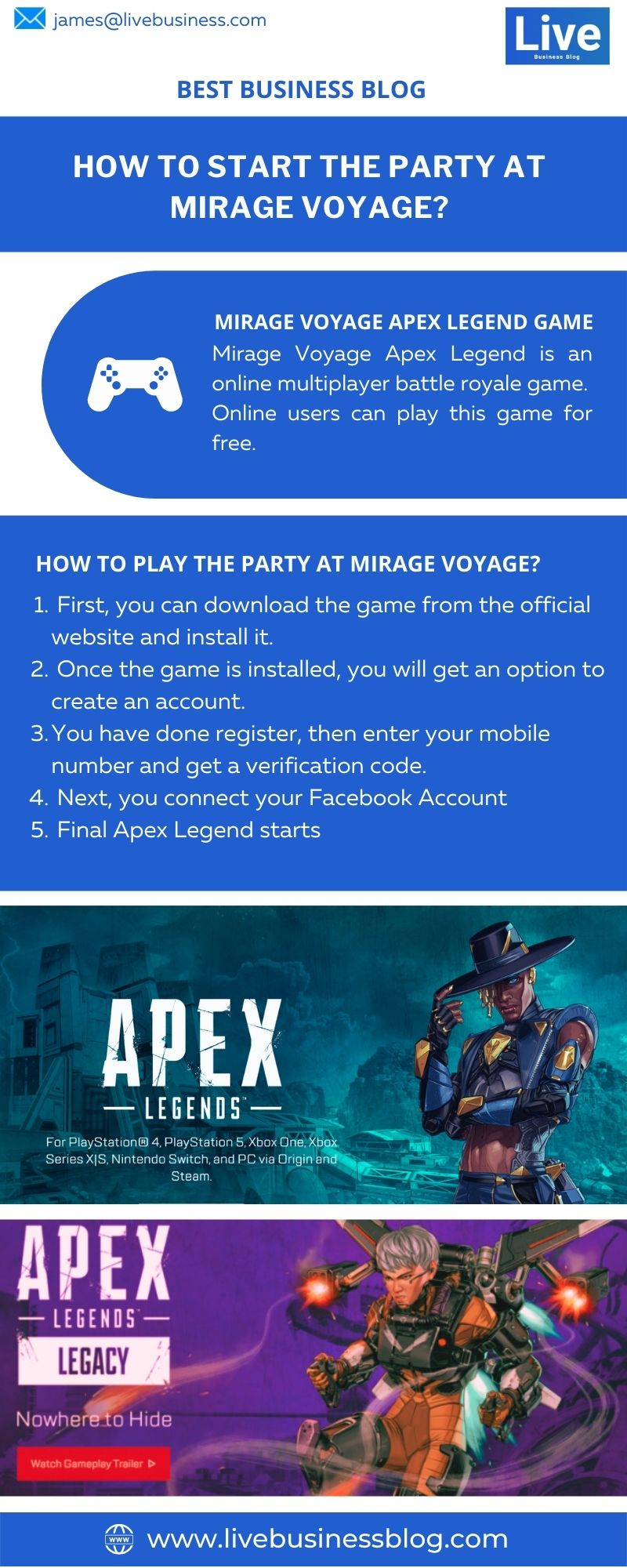 how to start the party at mirage voyage