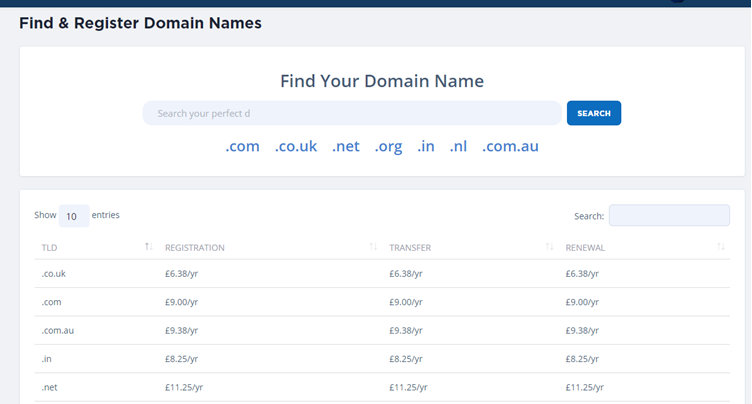 Register a Domain Name for your site