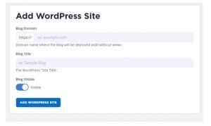 How to add your wordpress website